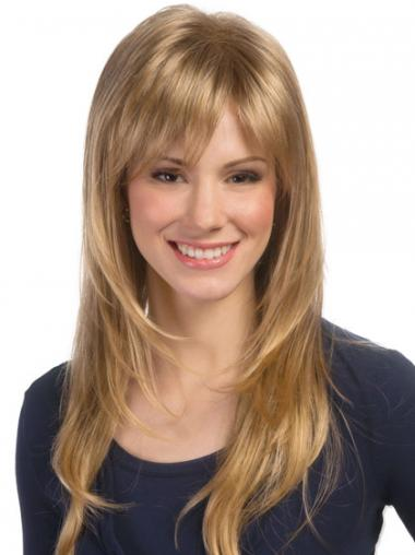 Wavy Layered Long Blonde Top Lace Front Wigs