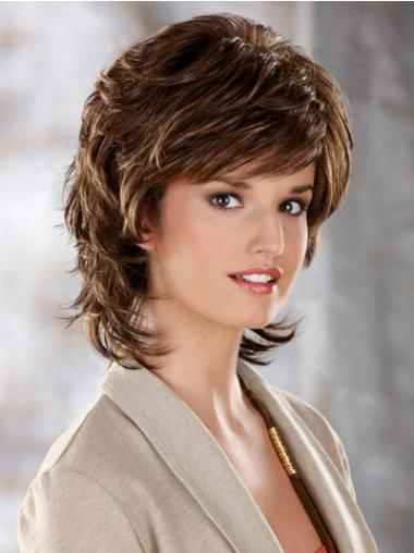 Wavy Brown Best Chin Length Classic Wigs