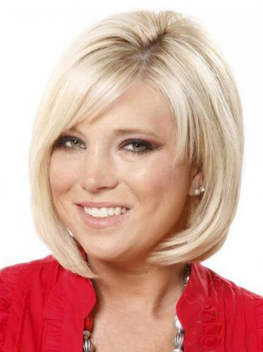 Lace Front Chin Length Straight Blonde Online Bob Wigs