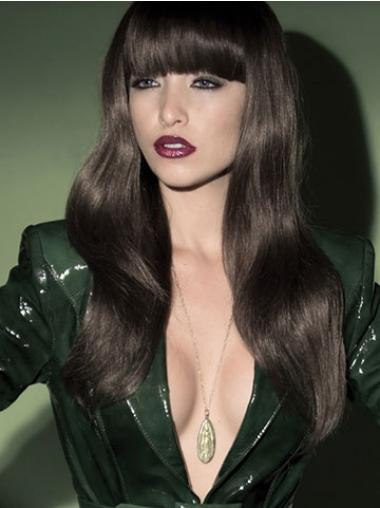 Long With Bangs Wavy Black Fashion Synthetic Wigs