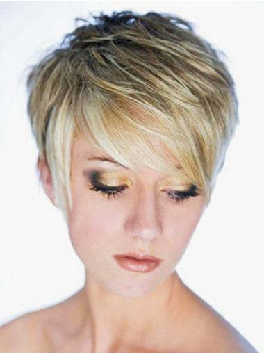Best Synthetic Wig Boycuts Cropped Length Blonde Color