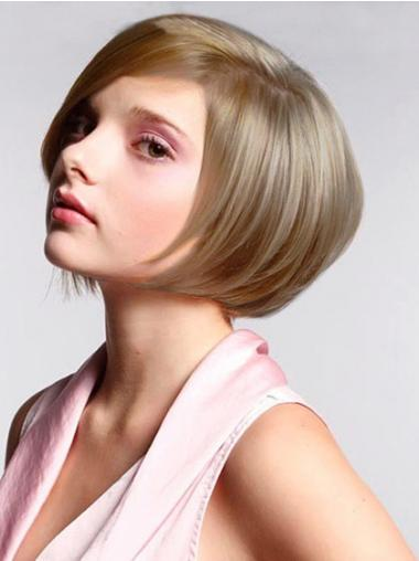 Lace Front Chin Length Straight Blonde Best Bob Wigs