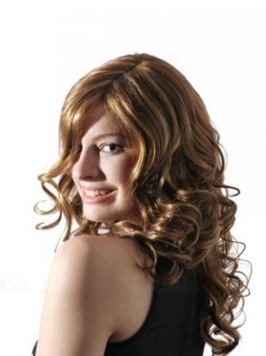 Wavy Without Bangs Long Blonde Comfortable Lace Front Wigs