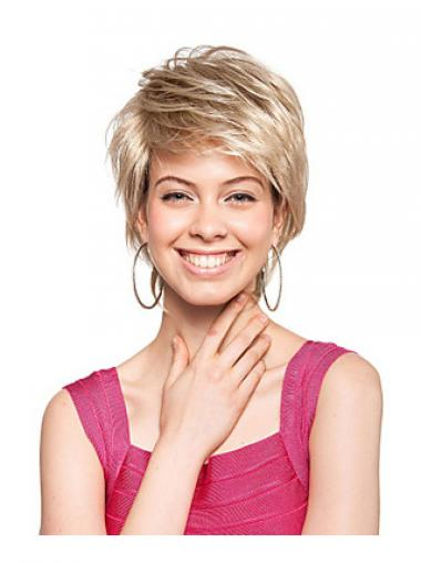 Short Boycuts Straight Blonde Amazing Synthetic Wigs