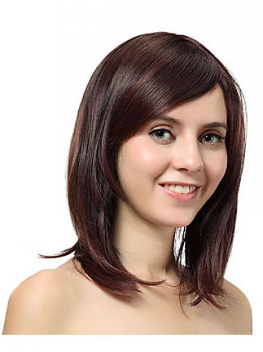Shoulder Length Layered Straight Auburn Cheap Synthetic Wigs