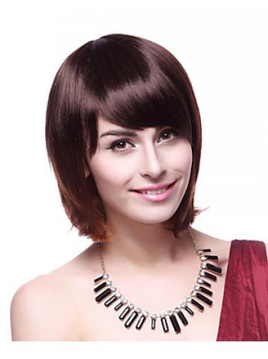 Chin Length Bobs Straight Auburn Fabulous Synthetic Wigs