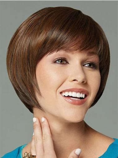 Short Bobs Straight Brown Top Synthetic Wigs