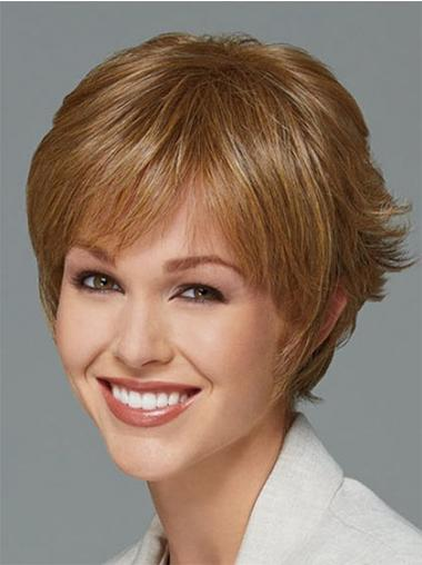 Short Boycuts Straight Blonde New Synthetic Wigs