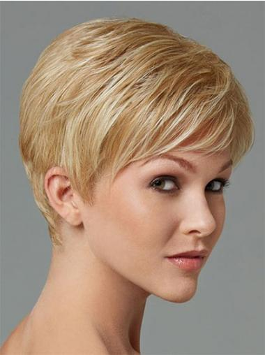 Synthetic Hair For Sale Boycuts Cropped Length Blonde Color