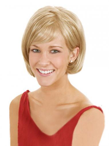 Lace Front Chin Length Straight Blonde High Quality Bob Wigs