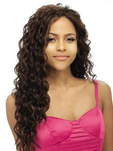 Human Hair Lace Front Wigs UK Long Length Wavy Style