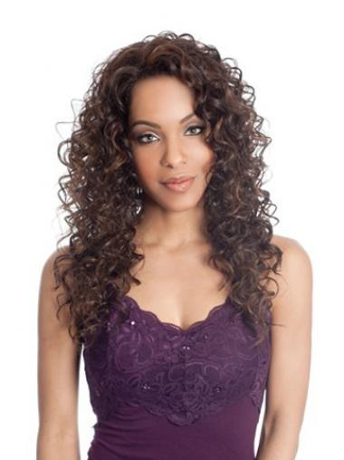 Curly Without Bangs Long Brown Great Lace Front Wigs
