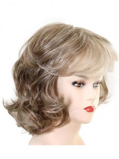 Chin Length Layered Wavy Soft Synthetic Wigs