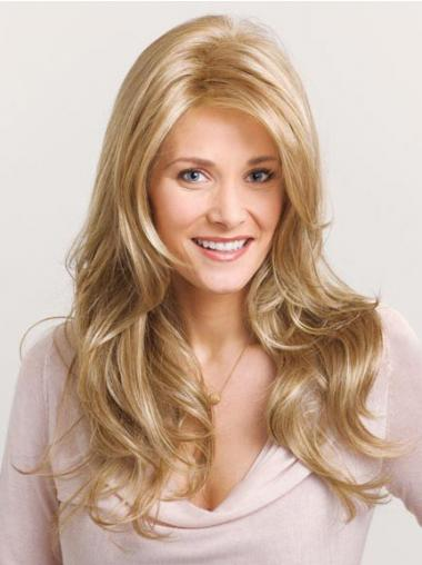 Wavy Layered Long Blonde No-Fuss Lace Front Wigs