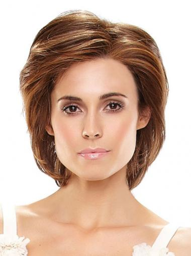 100% Hand Tied Layered Chin Length Straight Monofilament Wigs