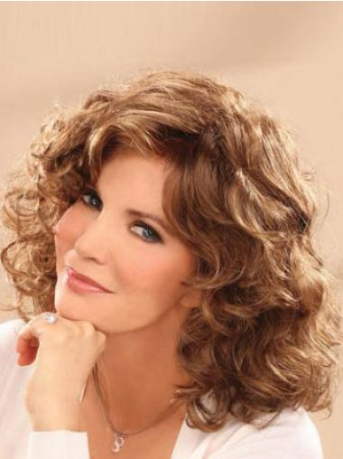Big Hair Classic Wigs With Bangs Wavy Style Shoulder Length