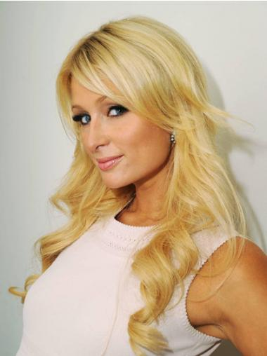 Wavy Layered Long Blonde Style Lace Front Wigs