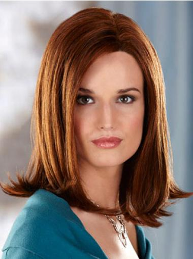 Shoulder Length Without Bangs Straight Auburn Great Synthetic Wigs