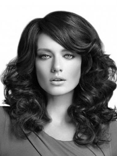 Curly Layered Long Black Cheapest Lace Front Wigs