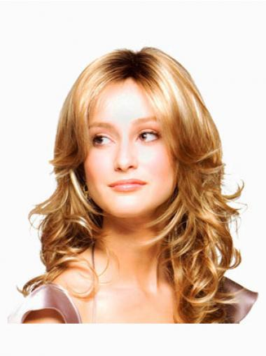 Wavy Layered Long Blonde Discount Lace Front Wigs
