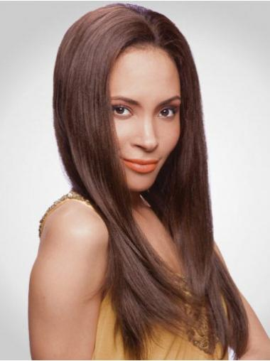 Auburn Long No-Fuss Straight Without Bangs Lace Wigs