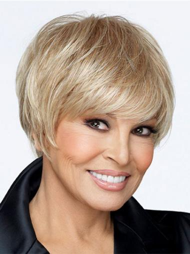 Exquisite Blonde Short Straight Boycuts Lace Front Wigs