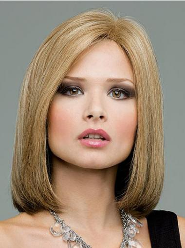 Lace Front Shoulder Length Straight Blonde Great Bob Wigs