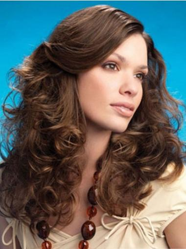 Curly Layered Long Brown Affordable Lace Front Wigs