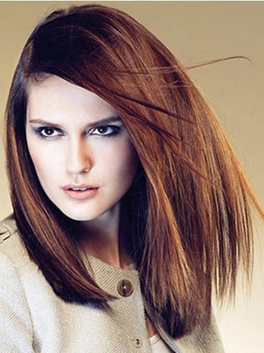 Short Wavy Capless Brown Cheap Monofilament Human Wigs UK