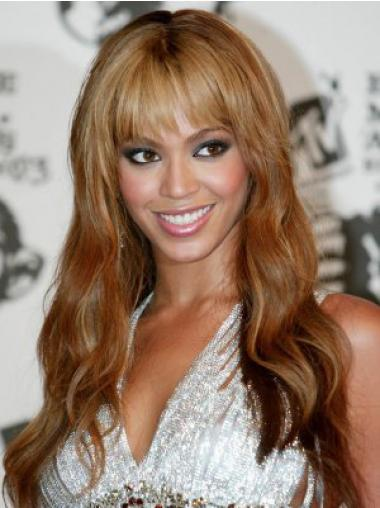 """Long Wavy With Bangs Full Lace 20"""" Cheap Beyonce Wigs"""