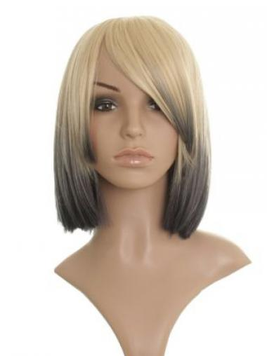 """Straight Lace Front 12"""" Durable Chin Length Celebrity Wigs"""
