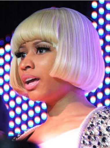 "8"" Blonde Straight Bobs Short Perfect Nicki Minaj Wigs"