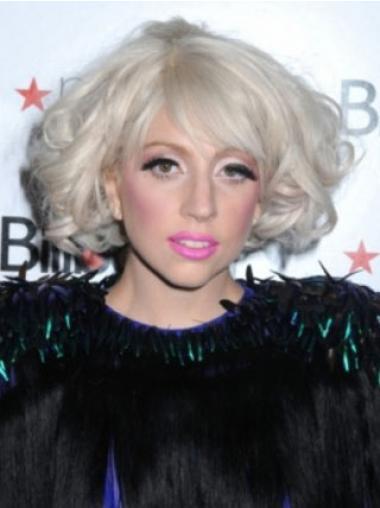 Lady Gaga Wig Chin Length Curly Style Layered Cut