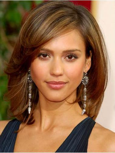 Jessica Alba Wig With Synthetic Straigjt Style Shoulder Length