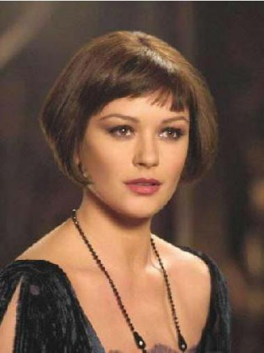 Catherine Zeta-Jones Velma Kelly Wigs Remy Human Lace Front Bobs Cut Short Style