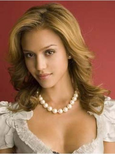Wavy Lace Front Without Bangs Long Blonde Fabulous Jessica Alba Wigs
