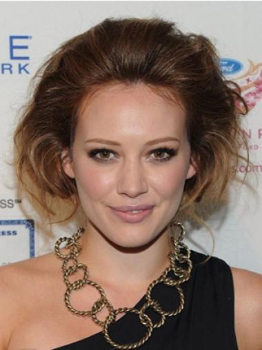 Auburn Chin Length Remy Human Wavy 100% Hand Tied Monofibre Julianne Hough Wigs