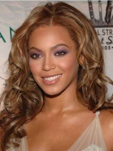 "Long Wavy Without Bangs Lace Front 16"" Beautiful Beyonce Wigs"