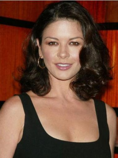 """Soft Brown Shoulder Length Wavy 14"""" Without Bangs Jaimie Alexander Lace Wigs"""
