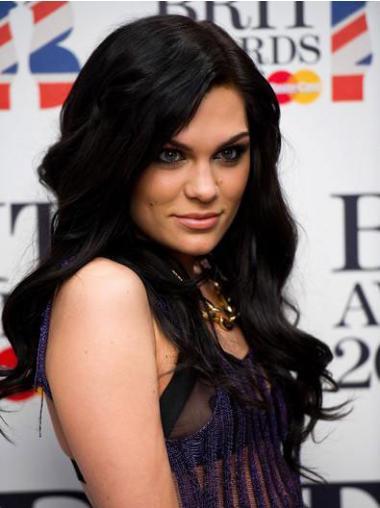 """16"""" Cheap Black Long Wavy Without Bangs Jessie J Wigs"""