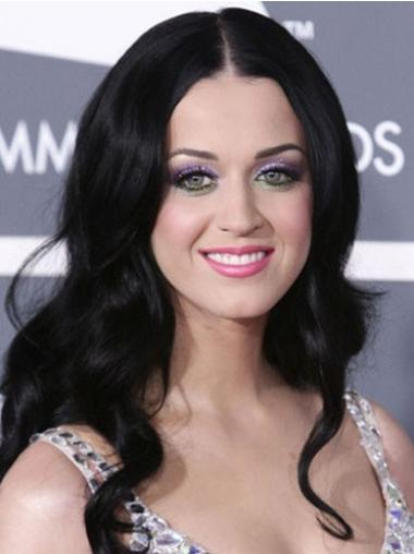 """20"""" Perfect Black Long Wavy Without Bangs Katy Perry Wigs"""