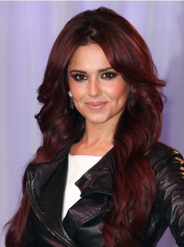 Cheryl Cole Wig Remy Human Lace Front Long Length Red Color