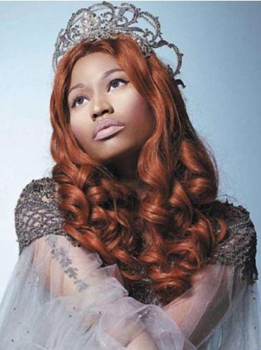 """20"""" Auburn Curly Without Bangs Long Gorgeous Nicki Minaj Wigs"""