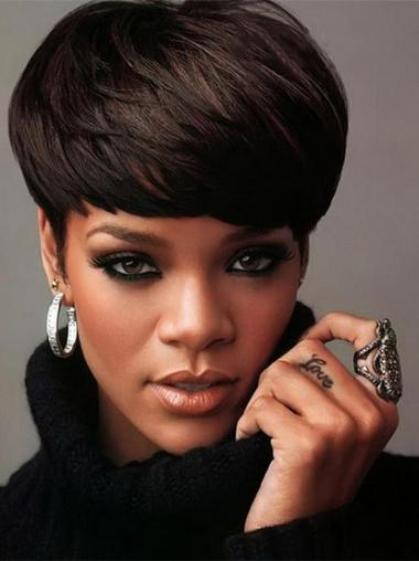 Rihanna Wigs For Sale UK Indian Remy Boycuts Straight Style