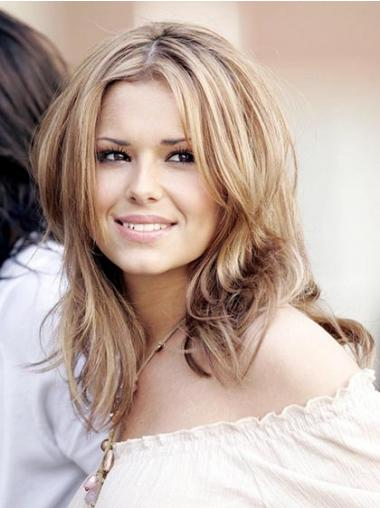 "Durable Blonde 12"" Straight Shoulder Length Layered Cheryl Cole Wigs"