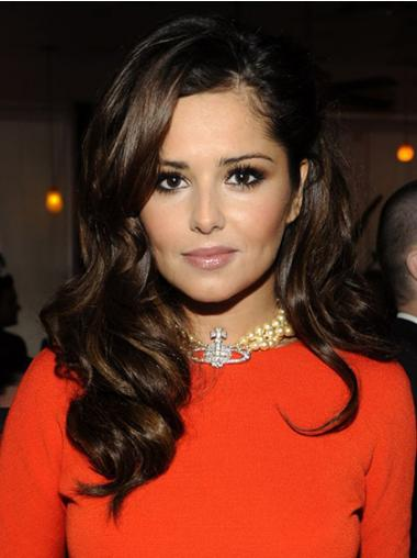 Cheryl Wig Brown Long And Curly With Bangs Wavy Style Capless