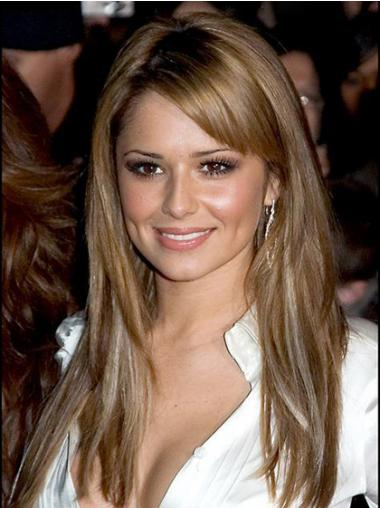 "Great Blonde 18"" Straight Long With Bangs Cheryl Cole Wigs"