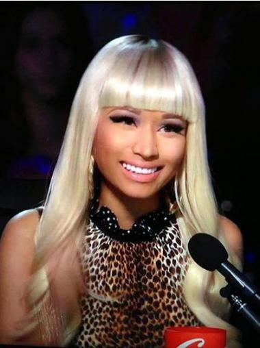 """24"""" Blonde Wavy With Bangs Long Incredible Nicki Minaj Wigs"""