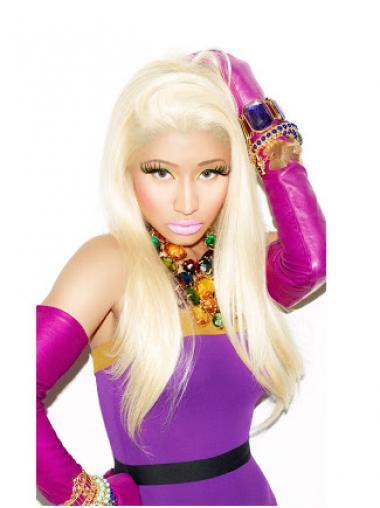 """24"""" Blonde Straight Without Bangs Long Discount Nicki Minaj Wigs"""