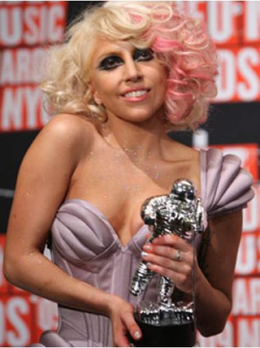 "12"" Suitable Shoulder Length Wavy Layered Lady Gaga Wigs"